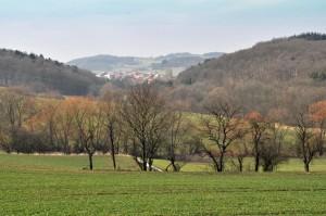 sanfte Hügel prägen die unmittelbare Umgebung