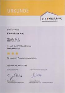 DTV Urkunde 2016 - 2019