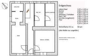 Im Erdgeschoss befinden sich Küche, Esszimmer, Wohnzimmer, Bad und ein 2. WC